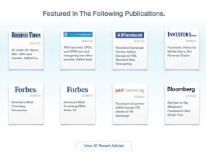 AdRoll Press Coverage Homepage Design